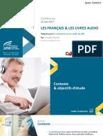 Etude Les Français et les livres audio 2017