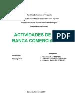 Actividades de La Banca Comercial