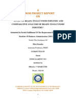 Study on Ready-To-eat Food Industry and Comparative Analysis of Ready-To-eat Food Industry