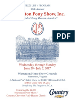Warrenton Pony Show program 2017