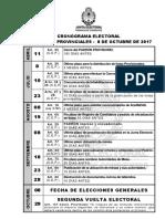 Cronograma Electoral  08 Octubre 2017