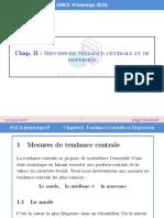 Chapitre 2 Mesures de Tendance Centrale Et de Dispersion by ExoSup.com