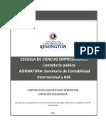 Seminario de Contabilidad Internacional NIIF