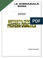 Motivatia Pentru Profesia Didactica-
