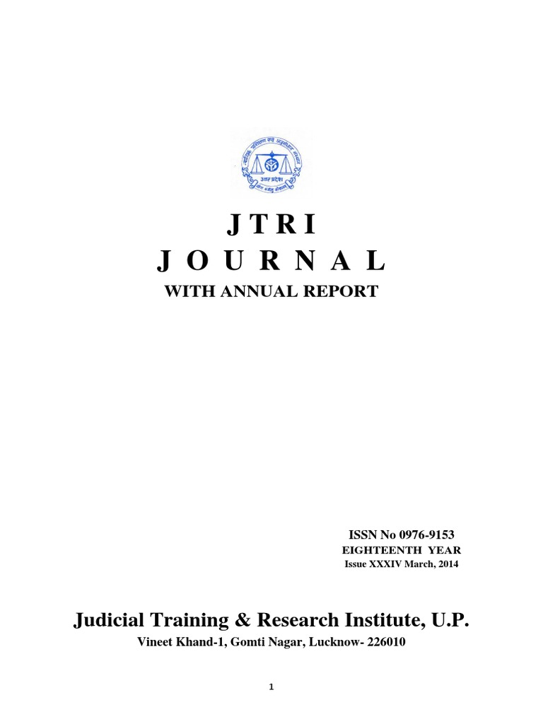 Jtri Journal March 2014 | Environmental Law | Judge