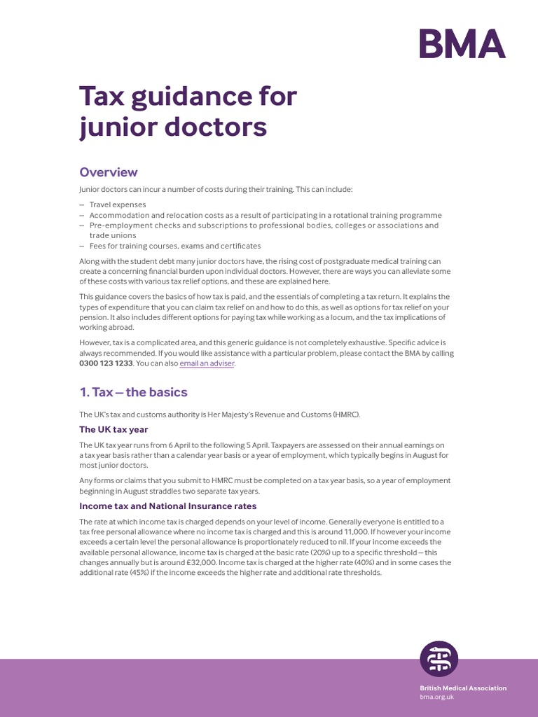Tax Guidance for Junior Doctors | Dividend | Pension