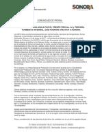 10/01/17 ALERTA METEOROLOGICA POR EL FRENTE FRÍO No. 22 y TERCERA TORMENTA INVERNAL, QUE PODRIAN AFECTAR A SONORA -C.011736