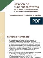 Organización Del Curriculo Por Proyectos