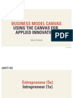 Business Model Canvas Applied Innovation
