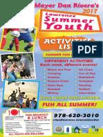Mayor Rivera's Summer Youth Activities List 2017