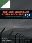 The Anti-Immigrant Lobby in California