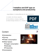 Influence of Metallics and EAF Type on Specific Consumptions and Productivity