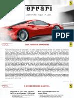 2016 08 02 - Ferrari - q2 2016 Results Presentation