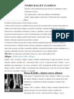 Dicionário Ballet Clássico