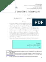 1 Pedagogia Hermeneutica y Subjetivación