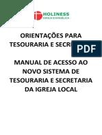 Manual Sistema Tesouraria