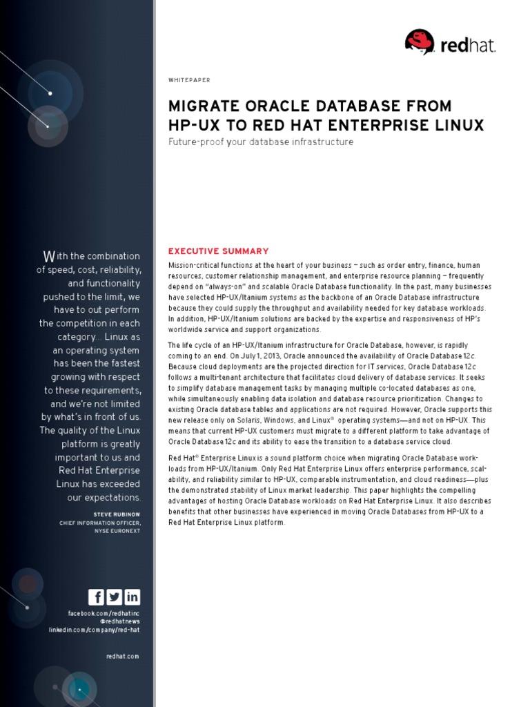 En rhel migrate oracle database hp ux red hat enterprise linux 11445687 pdf red hat cloud computing