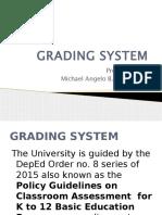 Faculty Orientation Grading System