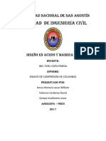 DISEÑO en ACERO Y MADERA - Ensayo de Compresion de Columnas