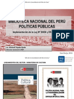 Exposicion Politicas Culturales Biblioteca Nacional del Perú