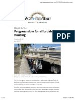 Progress Slow for Affordable Housing