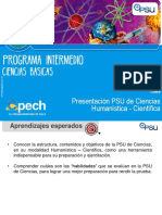 Presentación de La PSU de Ciencias 2017