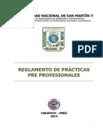 Reglamento de Practicas Pre Profesionales 2014