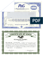 Certificate of Share of Stock
