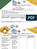 Guía de actividades y rúbrica de evaluación – Fase 1 conceptualización