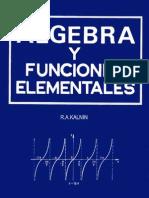 Algebra y Funciones Element Ales - Kalnin