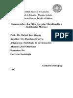Etica Docente y Moralización del Docente Científico de José Ottaviano