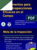 Fundamentos Para Hacer Inspecciones Eficaces en El Campo