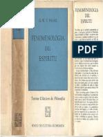 Hegel, G. W. F. - Fenomenología Del Espíritu, Ed. F.C.E., 1966