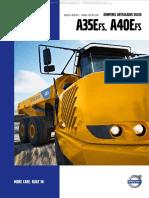 Catalogo Camiones Dumperes Articulados a35efs a40efs Volvo Datos Caracteristicas Detalles Especificaciones Dimensiones