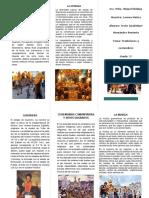 Triptico Tradiciones y Costumbres de Guerrero