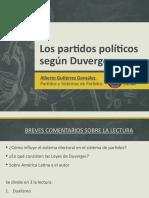 Leyes de Duverger/Partidos Políticos