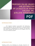 A Proposed Online Grading System for Grades Distribution