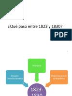 PERIODO 1823-1830