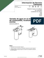 Manual Vaciado Agua Sistema Combustible Localizacion Averias Camiones d9a d12d d16c Volvo