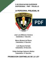 Pnp Silabus Desarrollado Defensa Personal Policial II