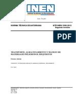 NTE INEN 2266 Transporte Almacenamiento y Manejo de Materiales Peligrosos