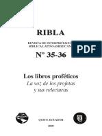 RIBLA 35-36 Los Libros Proféticos