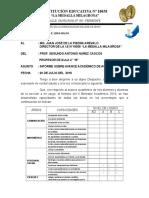 Informe de Avances Academicos