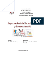 Ensayo de Normalización Reimara León
