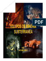 Equipos de Mina Subterranea