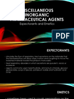 Expectorants and Emetics