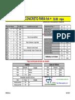 Tabela de Traços de Concreto