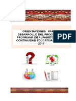 Orientaciones Para Desarrollo Alf. 2017