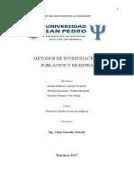 Monografía de Poblacion y Muestra