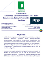 UniQuindio - MVLS - Gobernanza y Gestión Del Ciclo de Vida de Datos, Información, Decisiones e Inteligencia Analítica - 27May2017